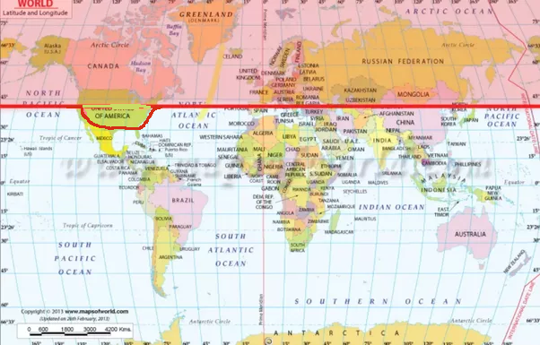 At Which Latitude Would A War Be An Equal Fight Between Countries - Greenland latitude