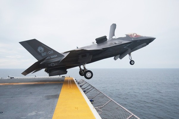 ... in VTOL flight and mistaking the large door Behind the Closed canopy which allows air to enter and accelerated for the Vertical Thrust for the canopy. & Why is the canopy on the Lockheed Martin F-35 open in flight? - Quora