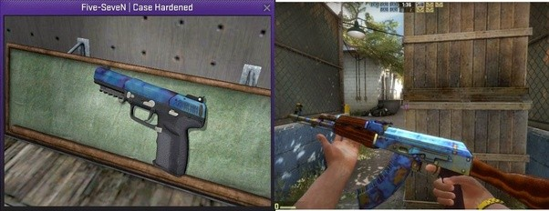 is there any way i can know if a cs go skins has a pattern except
