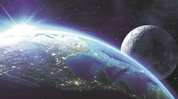 Image result for earth and moon