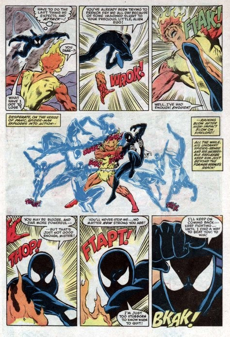 How strong was Spiderman when he wore the black symbiote