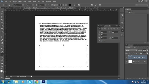 How to justify the text in adobe photoshop quora justify the text ccuart Gallery