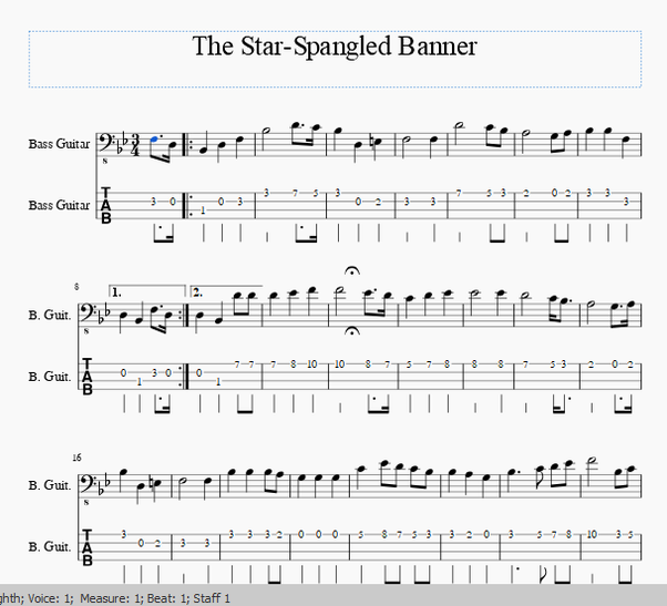 What are the note conversions from tuba to bass guitar? How do I ...