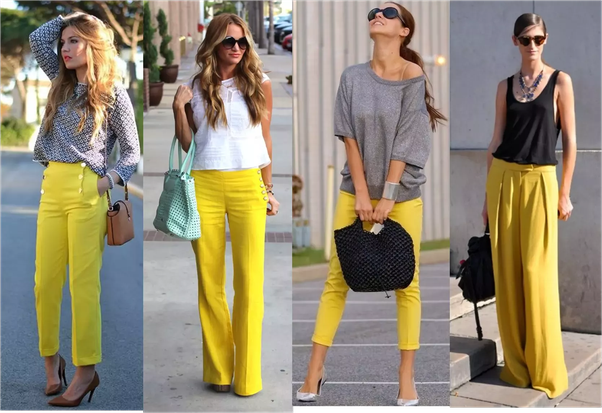 What can you wear with yellow pants? - Quora