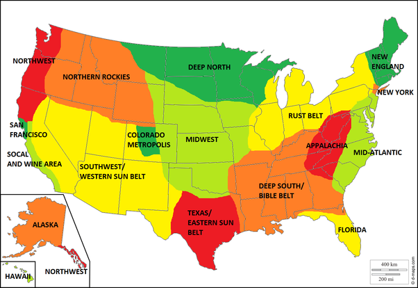 Deep South Usa Map on