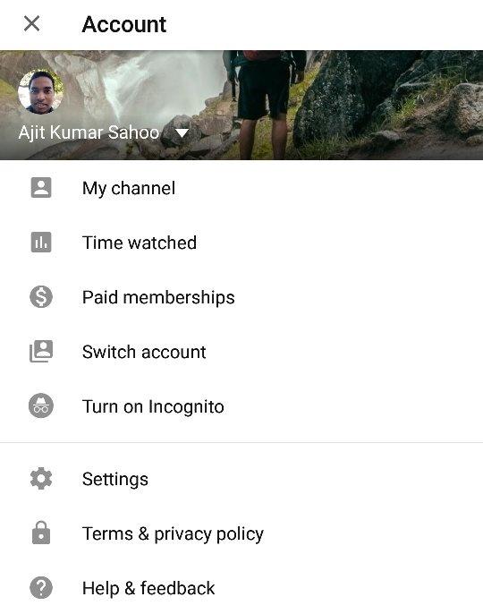 Youtube app sign in