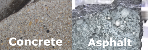 Image result for concrete and asphalt