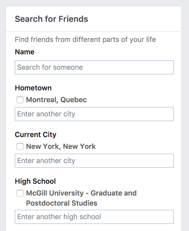 Is it possible to find a person on Facebook by the first