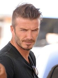 David Beckham Sets The Trend For Men With This Slightly More Complex Haircut.  He Sports A Quiff With A Classic Fade On The Sides. Its Ideal For Someone  With ...