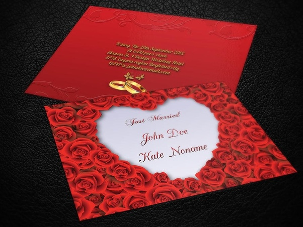 What Is The Best Wedding Invitation You Have Seen Quora - Small invitation cards templates