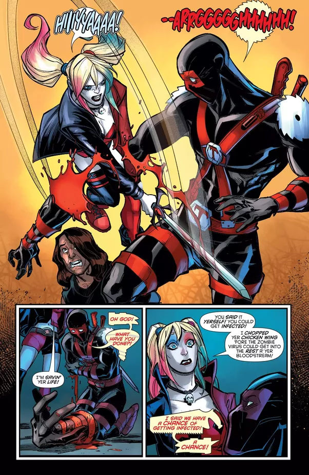 If deadpool was in the dc universe what would he be like - Deadpool harley quinn notebook ...