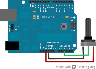 how to connect 6 potentiometers with arduino quora rh quora com wiring potentiometer arduino Power Arduino Wiring