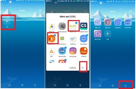 Can you suggest an app in Android that hides other apps as well as