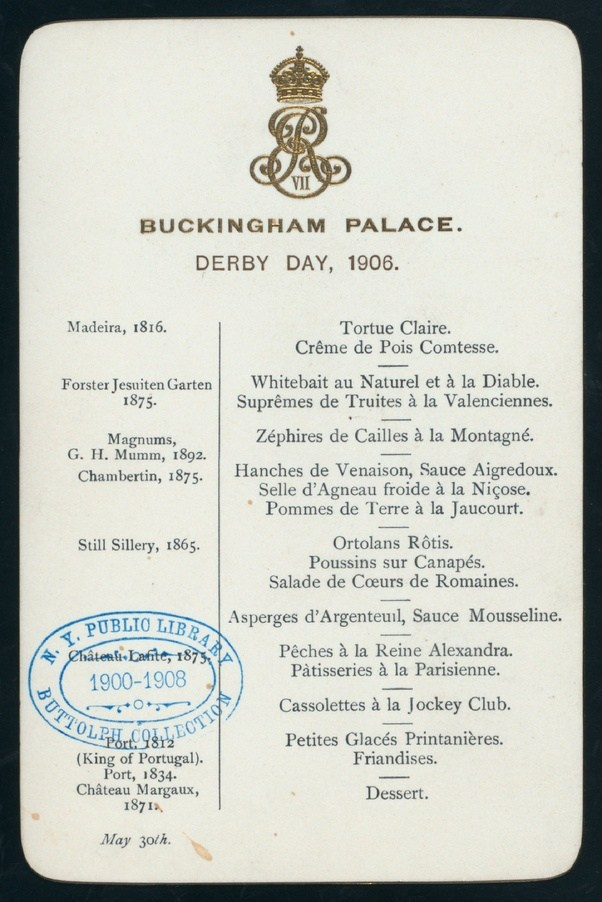Why Is The Banquet Menu Of UkS Royal Family Written In French  Quora