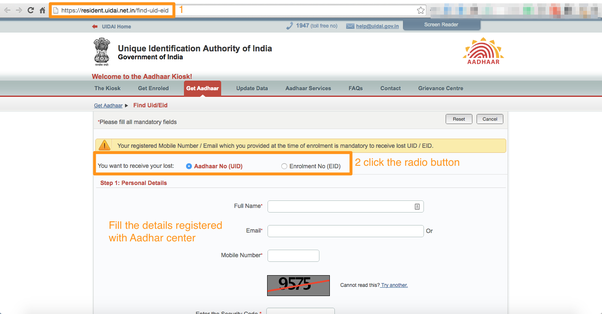 how to download an aadhaar card using an aadhaar number