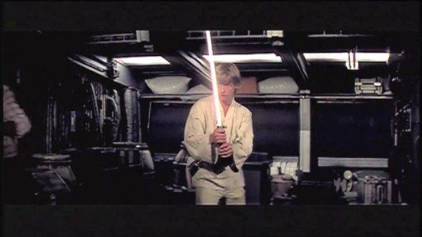 hope   lukes lightsaber blade white