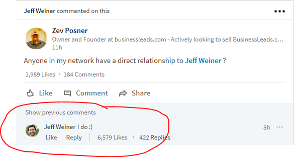It Instantly Bought A Smile On My Face And I Was Like Damn This Guy Is Really Cool He Is Very Active On Linkedin And Replies To Peoples Questions That