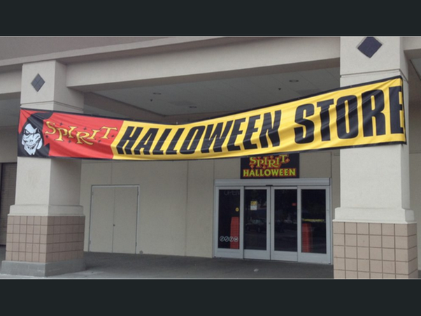 the spirit halloween stores are pop up stores that open at the end of september and stay open till beg of november they are seasonal