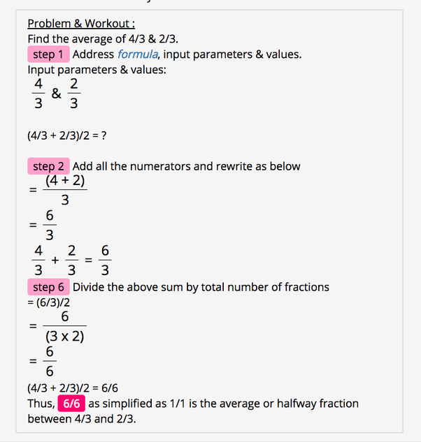 How to find the average of fractions - Quora