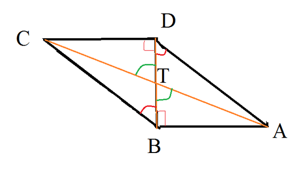 In a parallelogram abcd the diagonal bd is perpendicular to ab if the question must be to prove that ad2 3dt2 at2 instead of ad2 3dt2 at2 anyway i got your problem read on ccuart Gallery