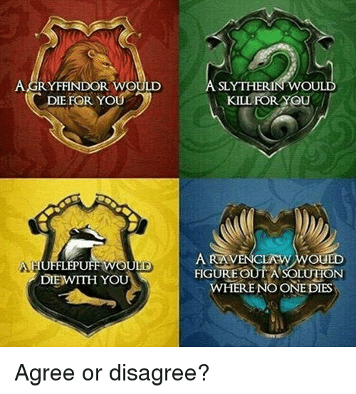 What Is A Cool Hogwarts House Meme That Is True For You Quora