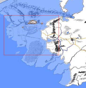 small part of middle earth in fact it is far too large in the map that she shows beleriand was roughly the size of eriador and enedwaith combined