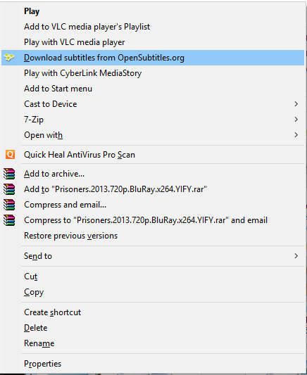 Where can i find sites to download subtitles in english for movies you can also get the subtitles by installing the player and right click on the video file ccuart Gallery
