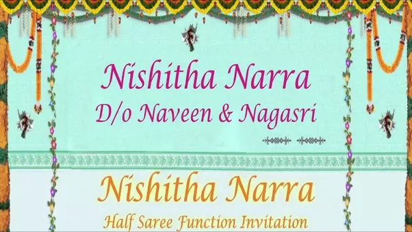 Half Saree Function Invitation Message Oneletter Co