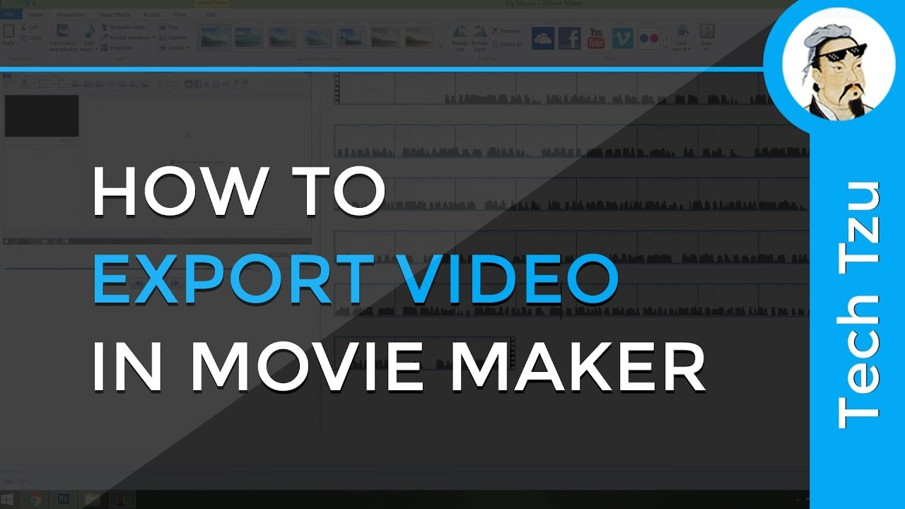 movie maker export mp4