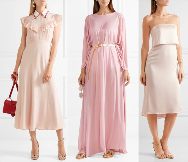What Shoe Color Goes Best With A Blush Dress?