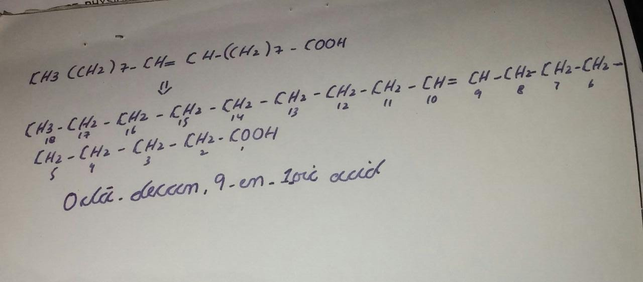 What Is The IUPAC Name Of H3CCH2 7 CHCH CH2 7COOH