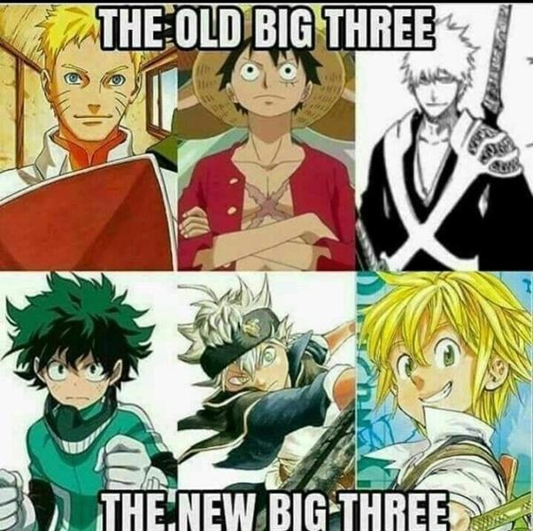Who Are The New Shonen Big 3 Quora