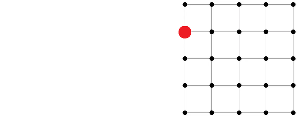 How Would You Choose 10 Dots From The 5x5 Square Grid Of 25 Dots So