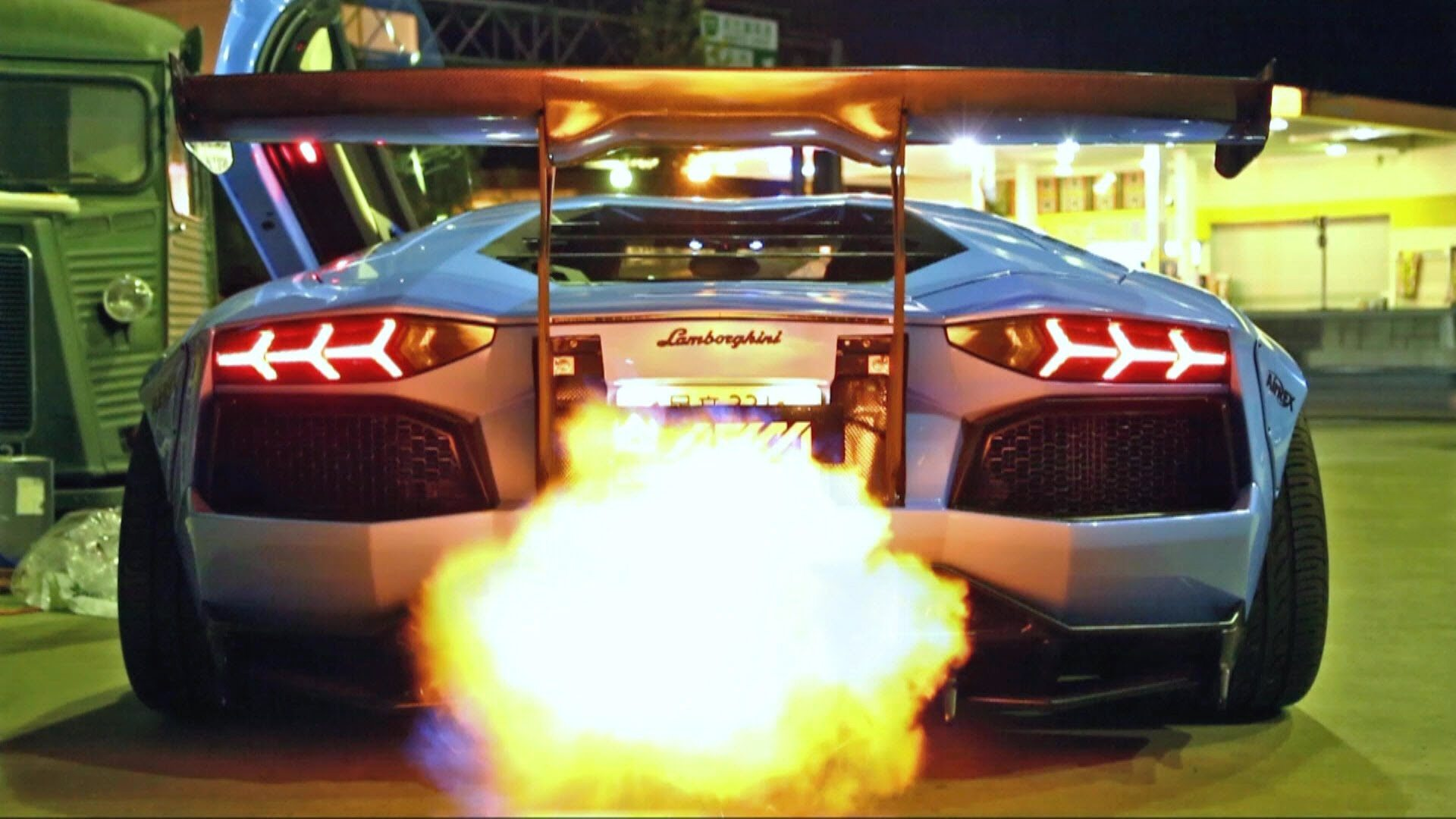 Why does Aventador spit flames? - Quora