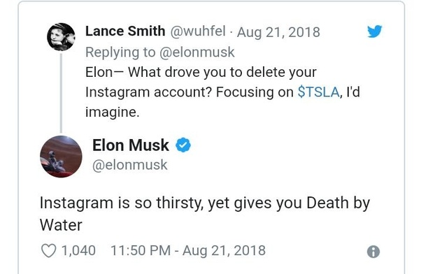 Why did Elon Musk delete his Instagram account? - Quora
