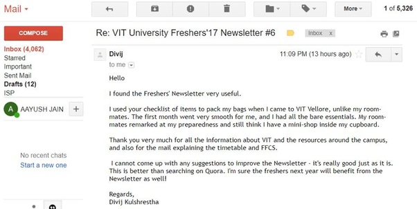 What all should a fresher know before joining VIT, Vellore