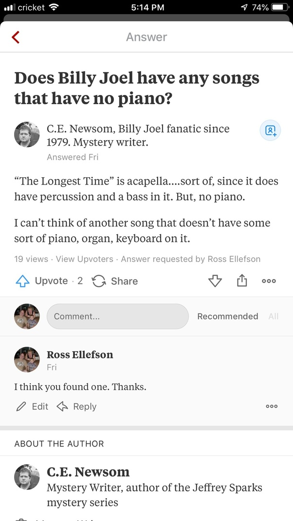 Does Billy Joel have any songs that have no piano? - Quora