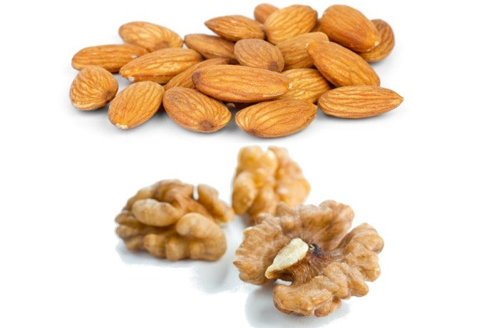 Can I get thicker hair by eating almonds and walnuts in one
