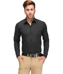what colour pants to wear with black shirt