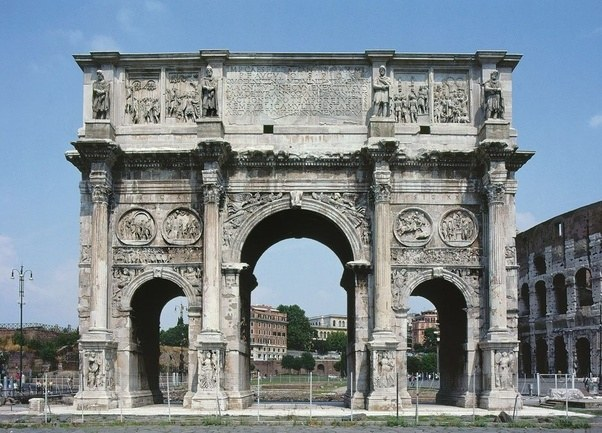 Do Take Note Of The Arches On Constantines Famous Monument However Round Shape And Tripling It With Two Side Was A Popular Model For