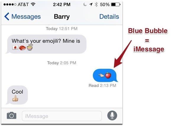 read messages on iphone if my imessage goes from blue to green does that i m 3469