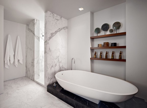 Or it can be utilized for an all-marble-bathroom design as it was done in  Australia in Seacombe Grove House by b.e. architecture.