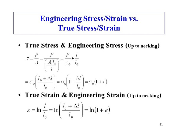 true stress and strain relationship for ductile