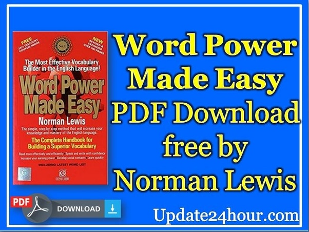 Norman lewis book*] word power made easy pdf book download.