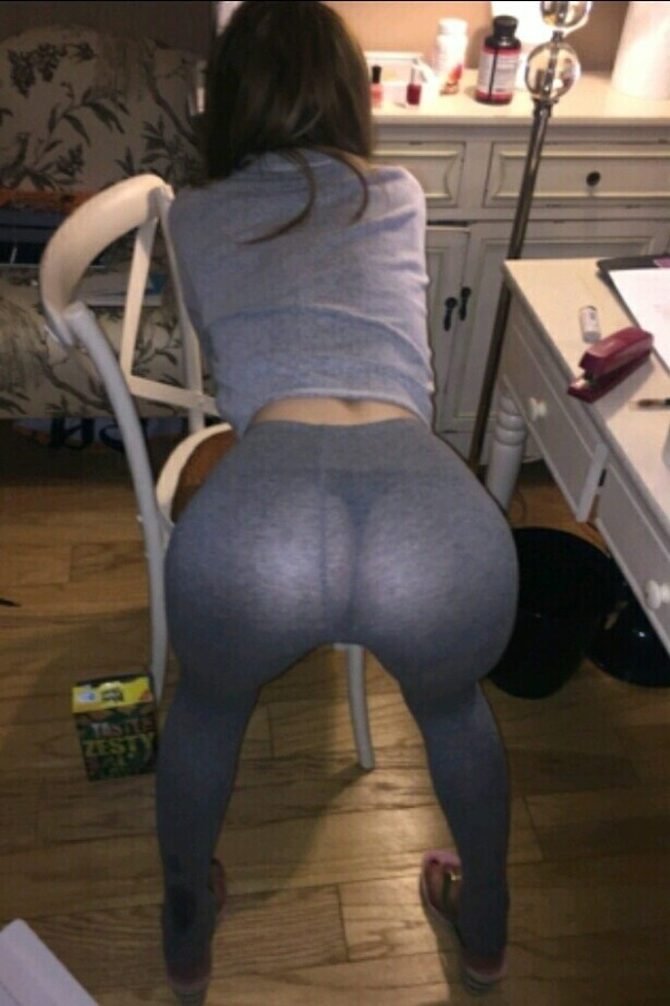 Girls in tights bending over
