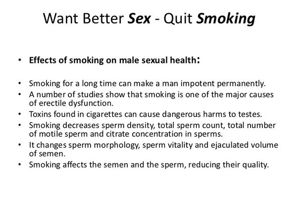 Sex and stopping smoking