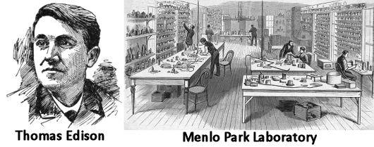 When Edison And His Researchers At Menlo Park Became Interested In The  Artificial Lighting, They Focused On Improving The Filament    First  Testing Carbon, ...