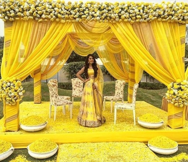 The Ceremony Decor: What Are Some Decor Ideas For Wedding Functions Like Haldi