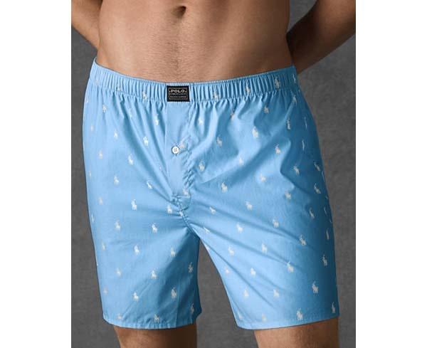 Underwear in white male stains White stain