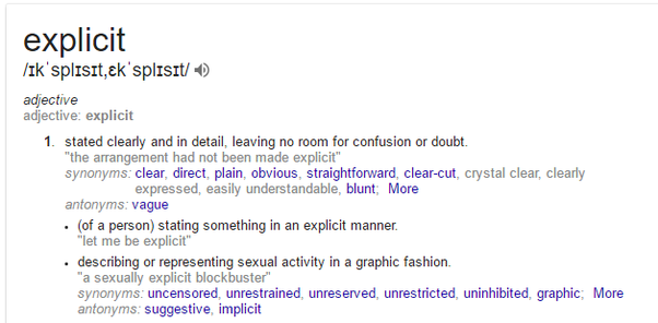 Based On The Above Definition Some Examples Of Ads That Are Explicit: